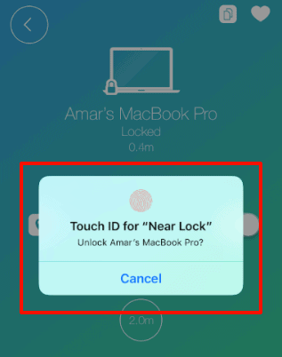 Use Touch ID to unlock Mac with iPhone