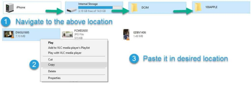 step by step procedure to send large videos from iPhone to Computer