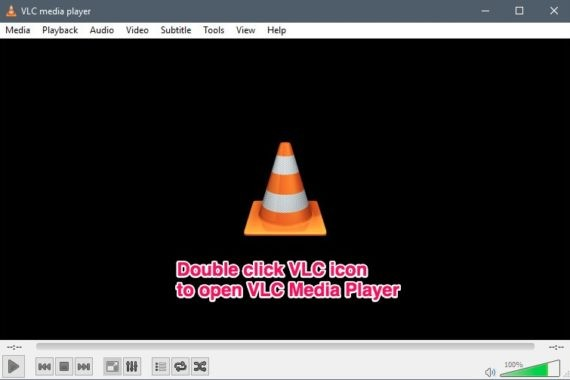 Open VLC media player first to convert VLC files to MP4