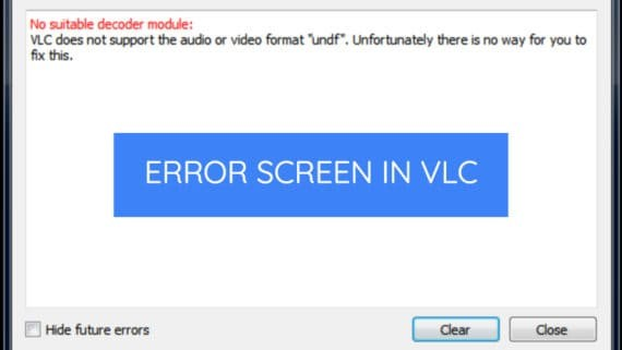 vlc does not support undf format