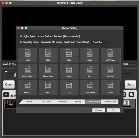 Joyoshare Media Cutter for Mac Multiple Format Compatibility