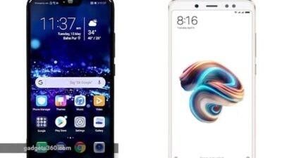 Oppo Realme 1 vs Xiaomi Redmi Note 5 Pro