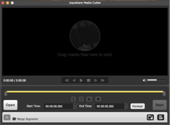 User Interface of Joyoshare Media Cutter for Mac