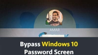 Bypass Windows 10 Password Screen
