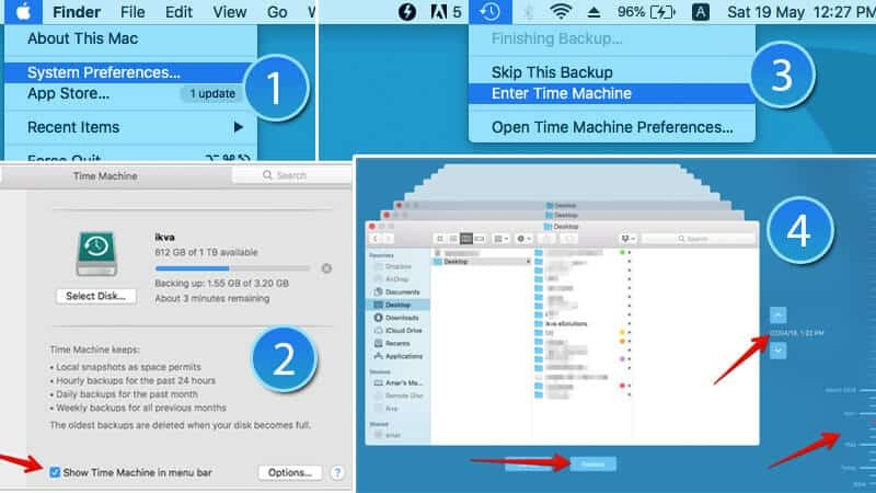 how to recover deleted files using time machine
