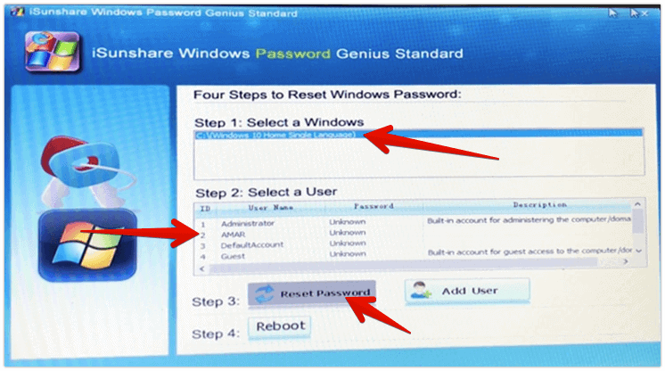 reset windows 10 password or leave it blank to bypass windows 10 password