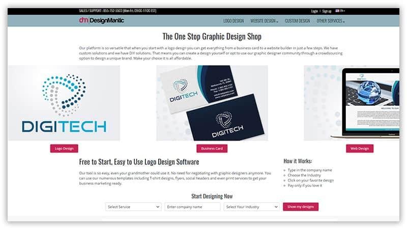 Designmantic online logo maker