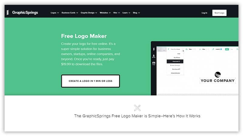 Graphic Springs online logo maker tool