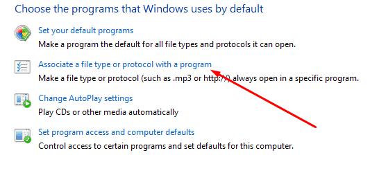 Select File Type option