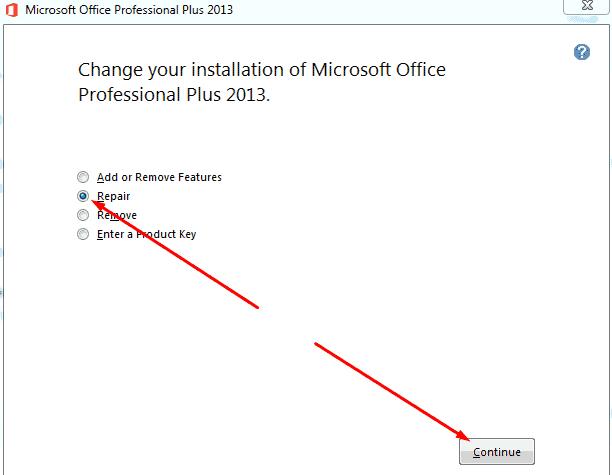 Repair MS Office 2