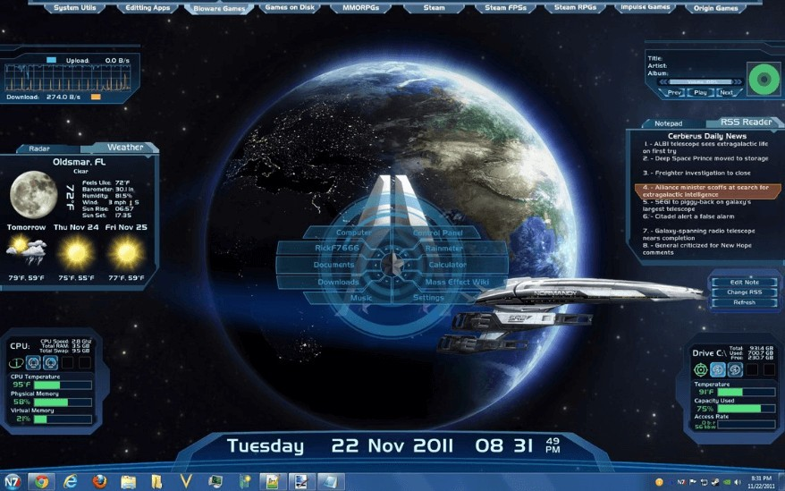 15 Best Rainmeter Skins For Windows Pc With Download Links
