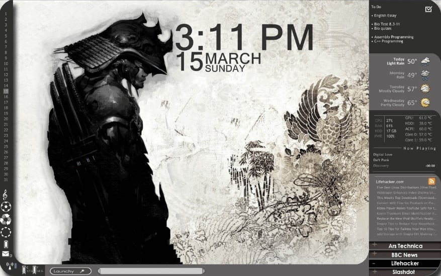 Windows 2019 Rainmeter Skin
