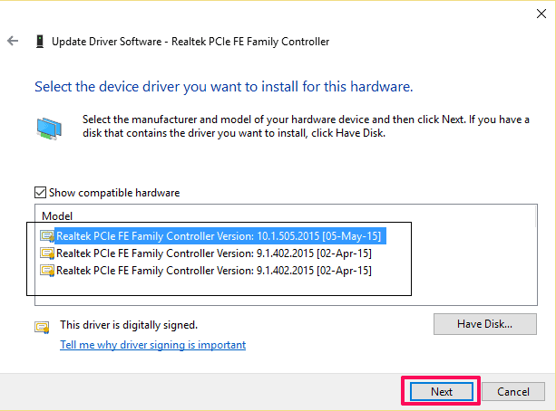 Update all drivers to fix Ethernet doesn't have a valid IP configuration solution