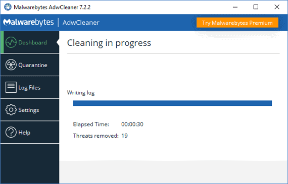 Remove VideoDownloadConverter Toolbar using AdwCleaner