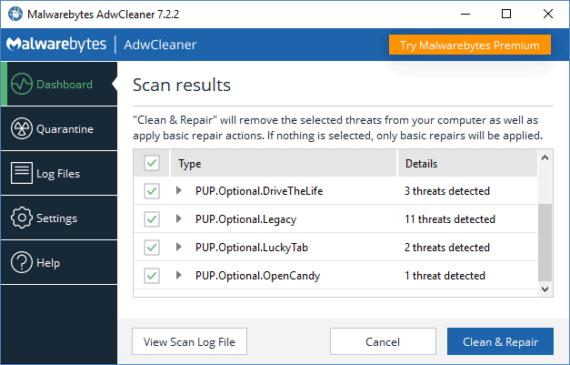 Remove VideoDownloadConverter Toolbar using Adwcleaner Scanning Complete