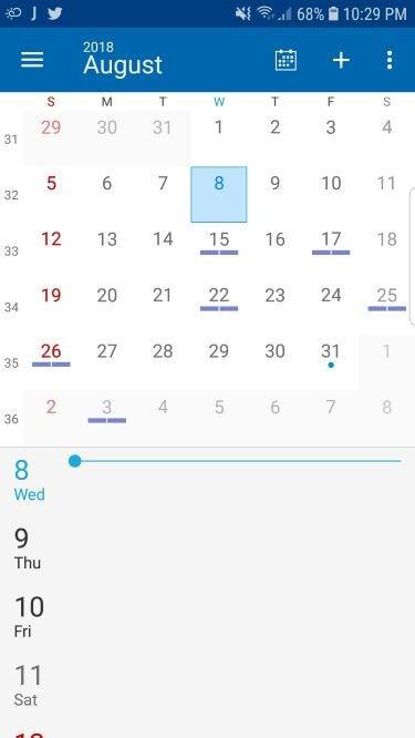 DigiCal Calendar app for Android with Light & Dark Theme option