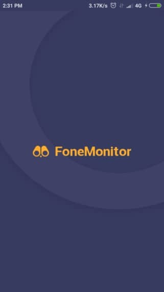 Launch the app and login with FoneMonitor credentials