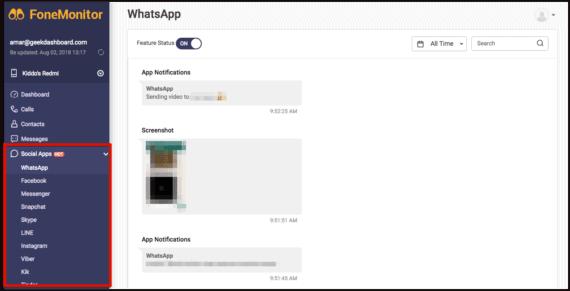 FoneMonitor - Social Apps