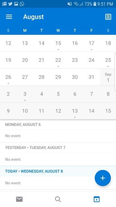 Microsoft Outlook Calendar app for Android