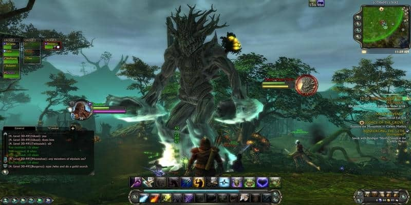 In game screenshot from MMORPG Rift