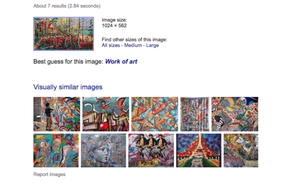 reverse image search art