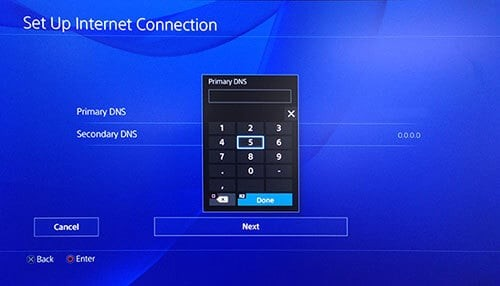 Setting fastest DNS for PS4