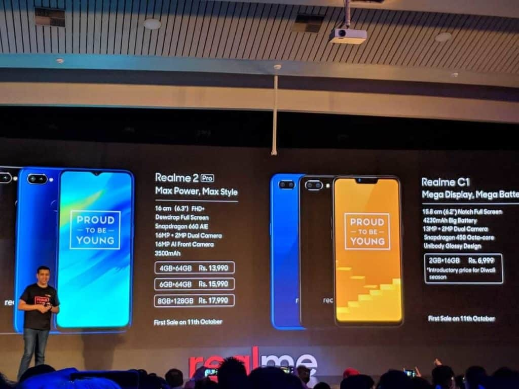 Realme 2 Pro and Realme C1 Features with Pricing