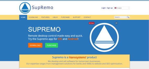 Supremo Remote Desktop Assistant Software for Screen Sharing