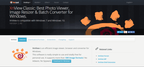XnView photo viewer supports over 500 formats
