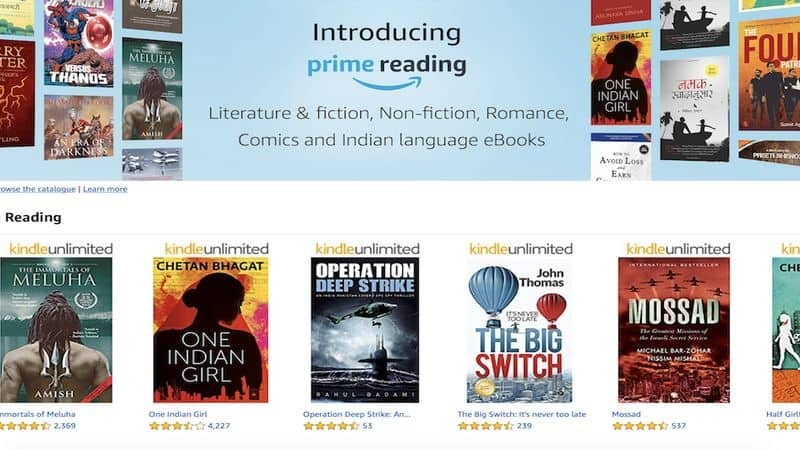 Amazon Prime Reading is now Available in India
