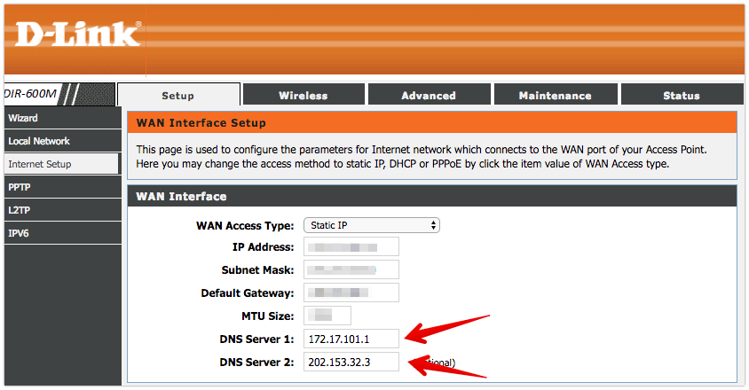 Finding the DNS address in router settings