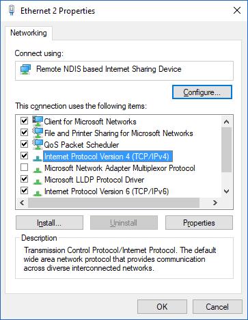 Select IPv4 or IPv6 based on your DNS