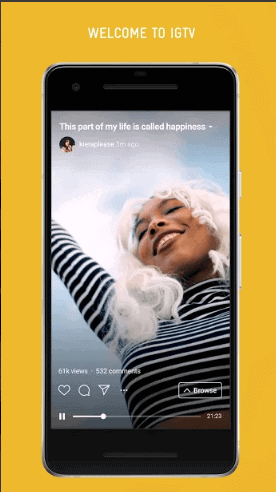 IGTV for watching portrait videos
