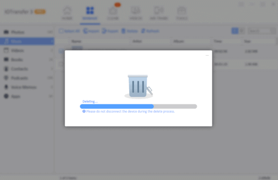 IOTransfer 3 Review - Delete files under manage