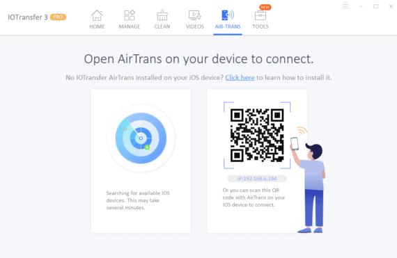 IOTransfer 3 Review - Detecting iOS device