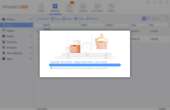 IOTransfer 3 Review - Export files under manage