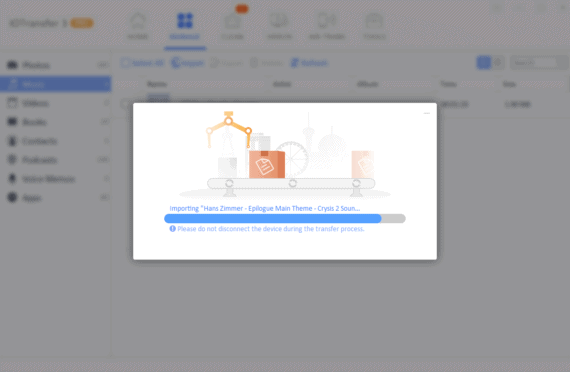 IOTransfer 3 Review - Import files under manage