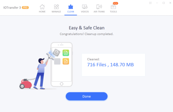 IOTransfer 3 Review - Post Data Cleanup