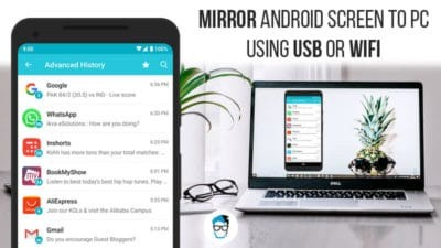 Mirror Android screen to PC and Mac using USB or over WiFi