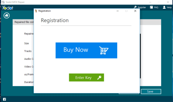 Buy Now popup appears when clicked on Save