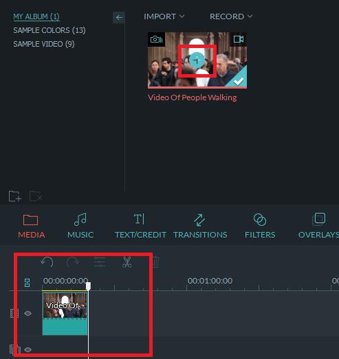 Add Media to timeline