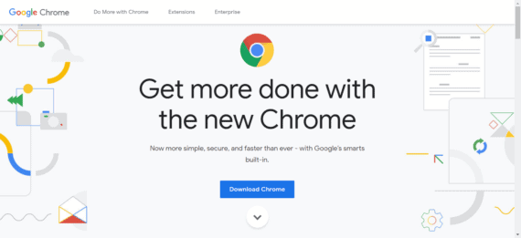 Download Page of Google Chrome