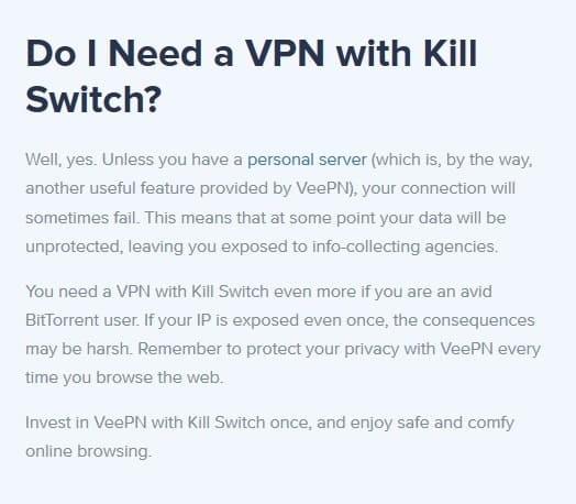 VeePN Kill Switch