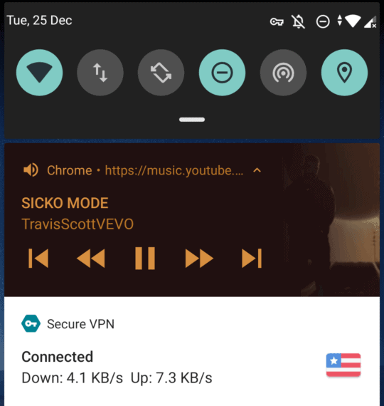 Play YouTube Music in background from the notification panel