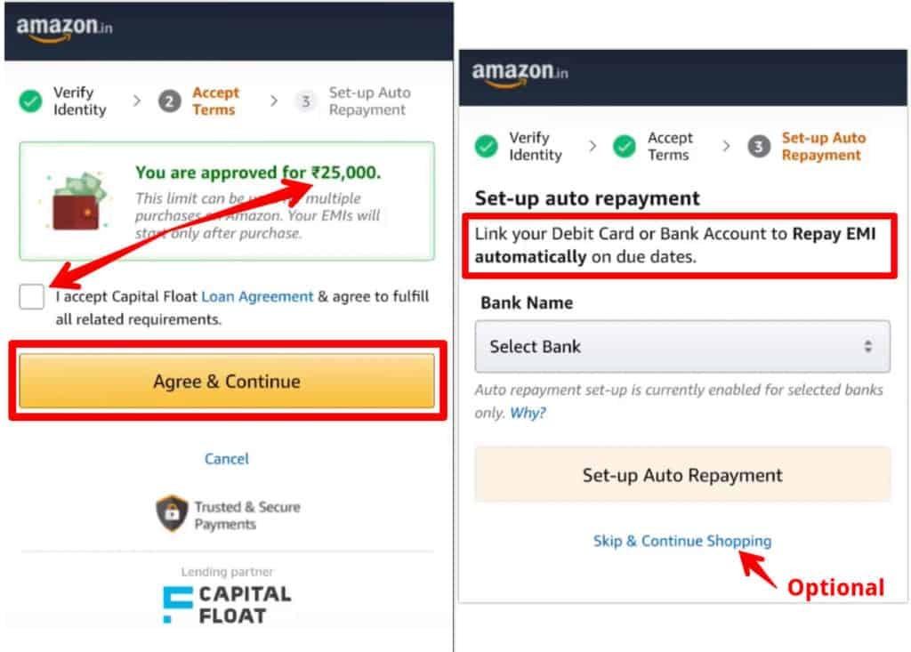 Amazon Pay EMI Auto Repayment