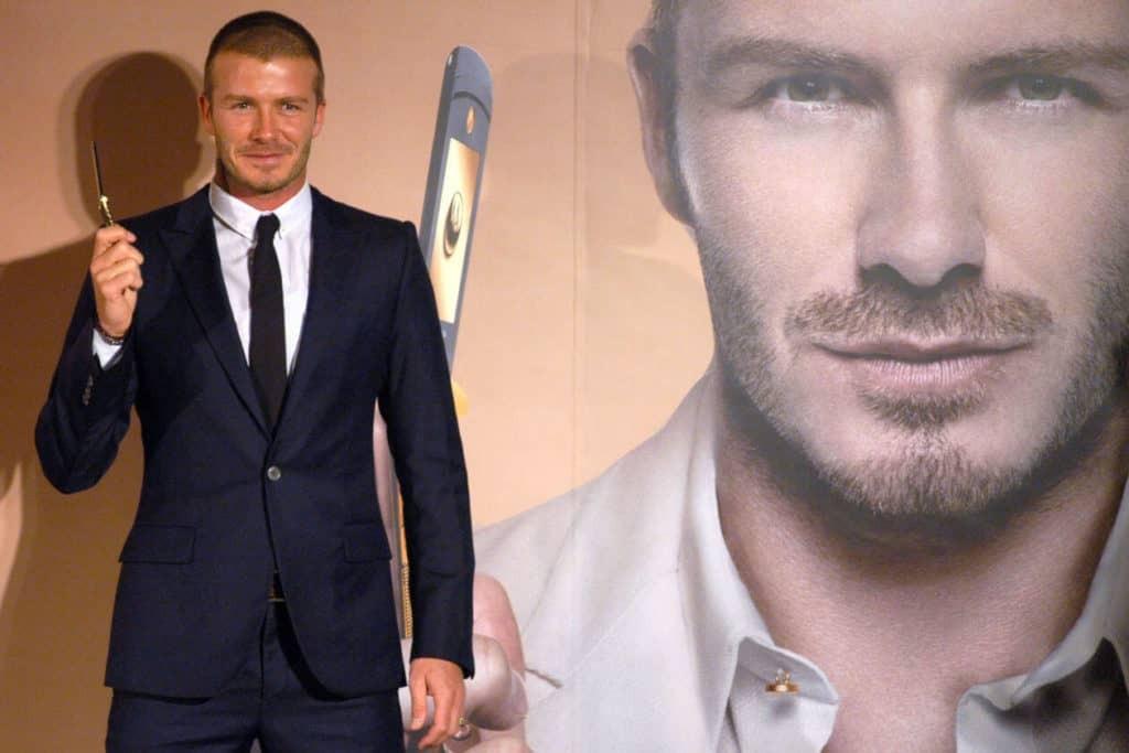 David Beckham promoting the Moto Razr