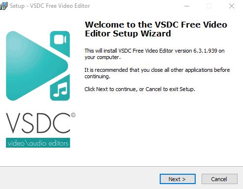 VSDC Free Video Editor Setup