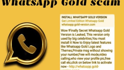 Fake WhatsApp Gold message