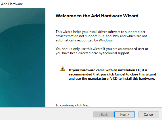 Add legacy hardware to fix Realtek not opening