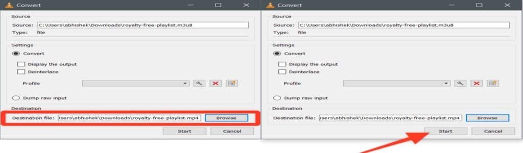 Choose Destination Folder to Start M3U8 Conversion